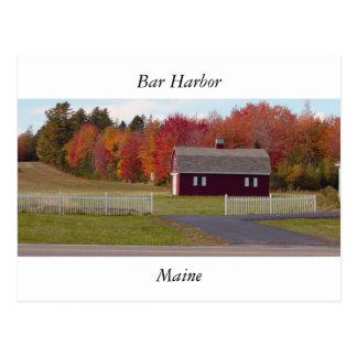 Bar-Hafen Maine Postkarte