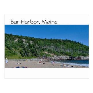 Bar-Hafen - Strand - 8 Postkarte