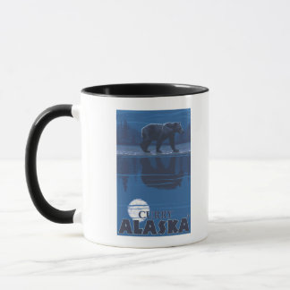 Bär im Mondschein - Curry, Alaska Tasse
