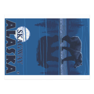 Bär im Mondschein - Skagway, Alaska Postkarte