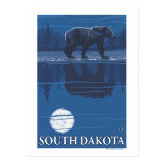 Bär in MoonlightSouth Dakota Postkarte