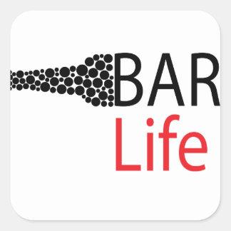 Bar-Leben-Abnutzung Quadratischer Aufkleber