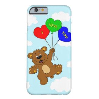 Bär mit Ballonen in den Liebe-Cartoonkindern Barely There iPhone 6 Hülle