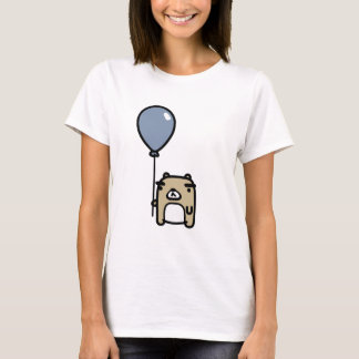 Bär mit blauem Ballon T-Shirt