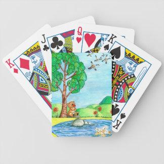 """""""Bär mit Blumen-"""" Spielkarten"""