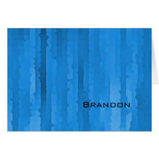 Bar Mitzvah blaue Techno Streifen Mitteilungskarte