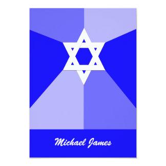 Bar Mitzvah Einladungs-blauer Davidsstern Laden 12,7 X 17,8 Cm Einladungskarte