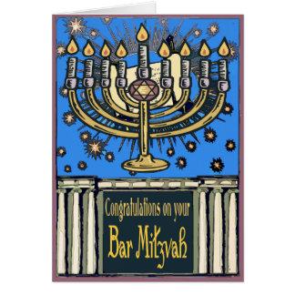 Bar Mitzvah Glückwünsche Karte