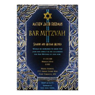 Bar Mitzvah Gold und Blau Karte