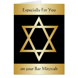 Bar Mitzvah Grußkarte