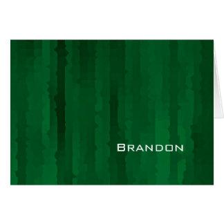 Bar Mitzvah Smaragdgrün Techno Streifen Mitteilungskarte