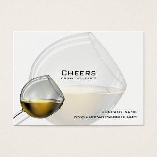 Bar-, Restaurant-oder Weinkellerei-Getränk-Belege Visitenkarte
