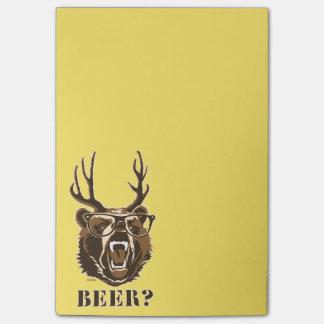 Bär, Rotwild oder Bier Post-it Klebezettel