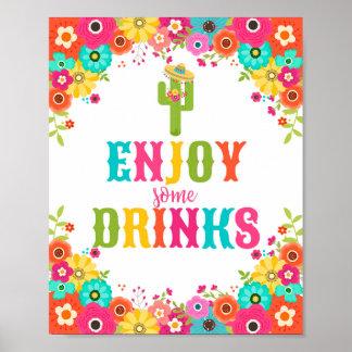 Bar-Tabelle Zeichen-Plakat mexikanisches Poster