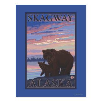 Bär und CUB - Skagway, Alaska Postkarte