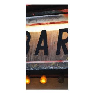 Bar-Zeichen Photo Karten
