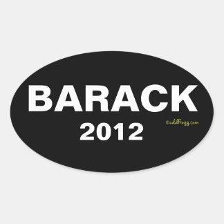 BARACK Autoaufkleber 2012 Ovaler Aufkleber