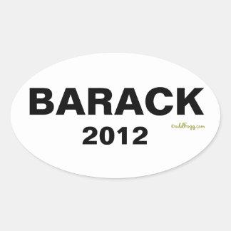 BARACK Autoaufkleber 2012 (weiß) Ovaler Aufkleber
