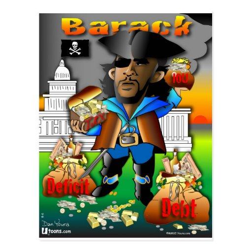 Barack der Pirat Postkarte