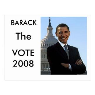 Barack die Abstimmung Postkarte