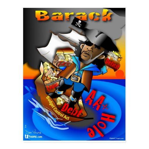 Barack die Pirat OM+ Postkarte