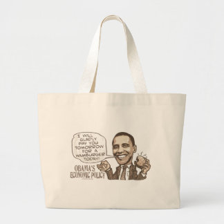 Barack Hamburger, der Anti-Obama-Gang isst Jumbo Stoffbeutel