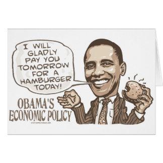 Barack Hamburger, der Anti-Obama-Gang isst Karte