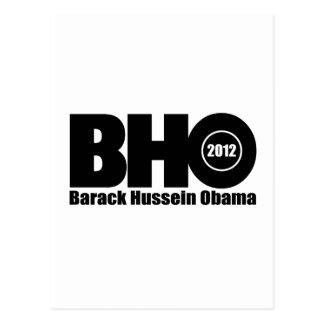 Barack Hussein Obama 2012 für Präsidenten Postkarte