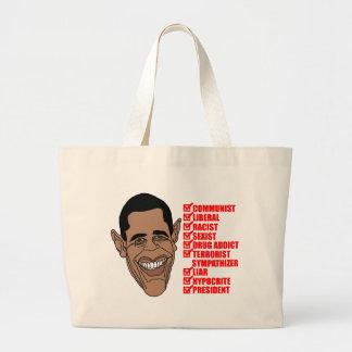 Barack Hussein Obamas Liste von Qualifikationen Jumbo Stoffbeutel