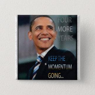 Barack Obama 2012 Knopf Quadratischer Button 5,1 Cm