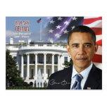 Barack Obama - 44. Präsident der US Postkarte