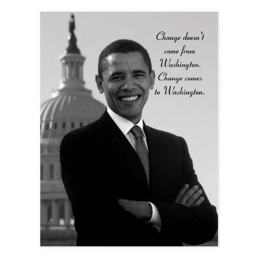 Barack Obama Änderungs-Postkarte