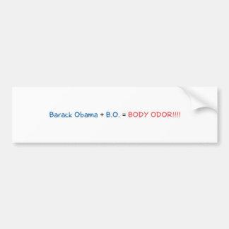 Barack Obama + B.O = KÖRPER-GERUCH!!!! Autoaufkleber