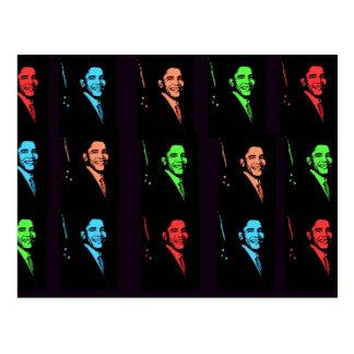 Barack Obama Collage Postkarte
