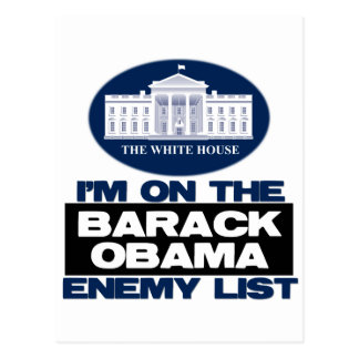 Barack Obama Feind-Liste Postkarte