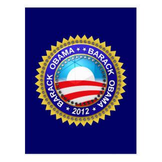 Barack Obama für Präsidenten 2012 Postkarte