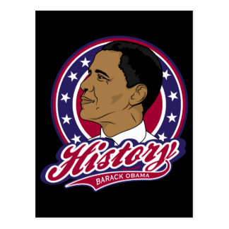 Barack Obama Geschichte Postkarte