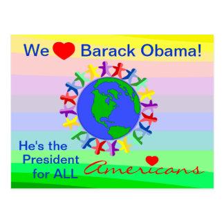 Barack Obama, ist er der Präsident für alle Postkarte