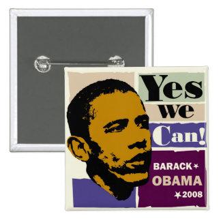 Barack Obama ja können wir Knopf Button