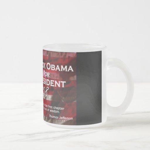 Barack Obama mattierte Tasse