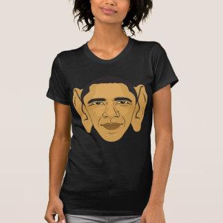 Barack Obama Ohrmarken? Großes T-Shirt
