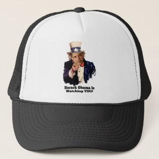 Barack Obama passt SIE Uncle Sam Parodie auf Truckerkappe