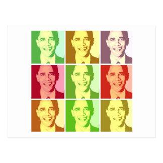 Barack Obama Pop-Kunst Postkarte