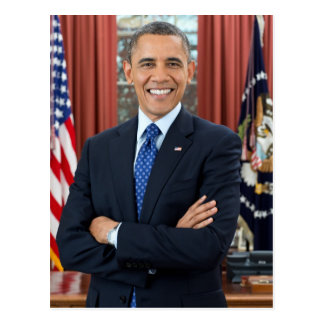 Barack Obama Porträt Postkarte