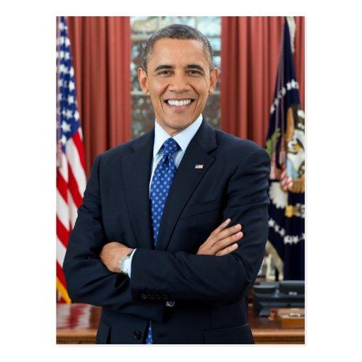 Barack Obama Porträt Postkarten