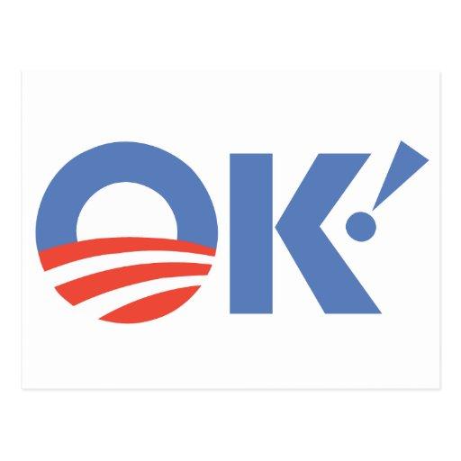 Barack Obama Postkarte