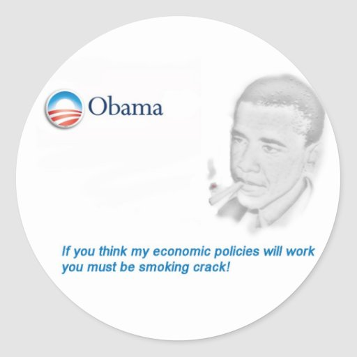 Barack Obama Protest Runder Sticker