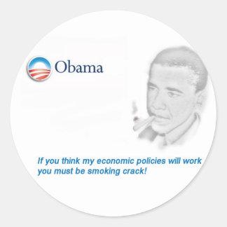 Barack Obama Protest Runder Aufkleber