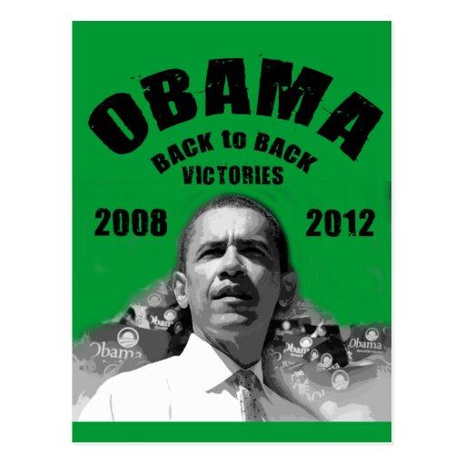 Barack Obama Rücken an Rückensieg-Einzelteile Postkarte