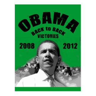 Barack Obama Rücken an Rückensieg-Einzelteile Postkarten